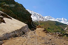 The 1st Glacier.... (Suh@il) Tags: travel pakistan mountain lake snow tourism rocks track jeep stones glacier adventure valley peaks nwfp naran suhail jeepsafari sonyh5 jeeptrack suhailakhtar northernareaofpakistan lakesaifulmaluk tolakesaifulmaluk shootingfromjeep