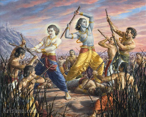 Krishna and Balaram fight the Yadu Dynasty | Flickr - Photo Sharing!