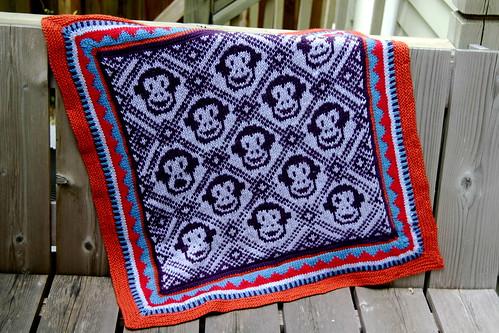 Finished monkey blanket