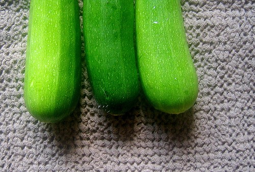 my first three zucchini