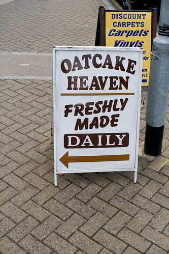 Oatcake Heaven, freshly made daily