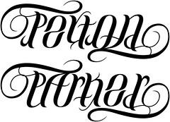 """""""Peyton"""" & """"Parker"""" Ambigram"""