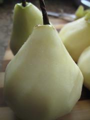 Skinned pears