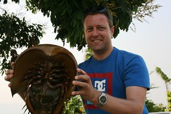 EPM's Phil preparing the horseshoe crab for its staring role