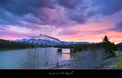 "Sunset at Mt Rundle (Joalhi ""Back in Miami"") Tags: sunset alberta banff mtrundle twojacklake coth5"