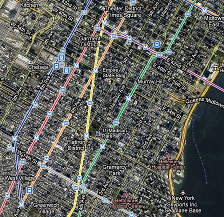 Science Library Pad: visualising city transit layers