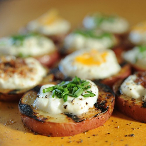 grilled potato rounds square
