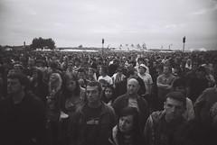 When Zombies Attack! (REALJimBob) Tags: bw film festival reading gig crowd hp5 vivitar readingfestival uws ilfordhp5plus 135film lastfm:event=432551 readingfestival2008 camera:model=vivitarultrawideandslim littlejohnsfarm