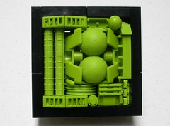 lime greebles (brickfrenzy) Tags: lego lime greeble greeblecolorstudy