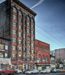Regent Hotel and the Pantages (laniwurm) Tags: vancouver hastings downtowneastside regent dtes hdr pantages