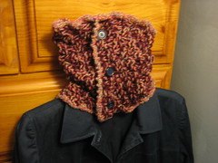 Red Tweed Neckwarmer