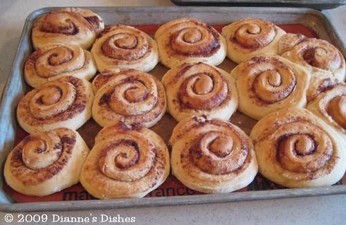 Cinnamon Buns: Baked
