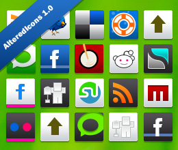 AlteredIcons 1.0 Social Media Networking Icon Set For WordPress