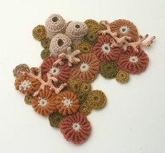 Limited palette WIP (gooseflesh) Tags: sea sculpture art coral garden soft crochet creatures