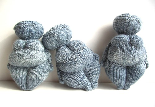 Venus of Willendorf x 3, 6inches hight, 4 inches wide