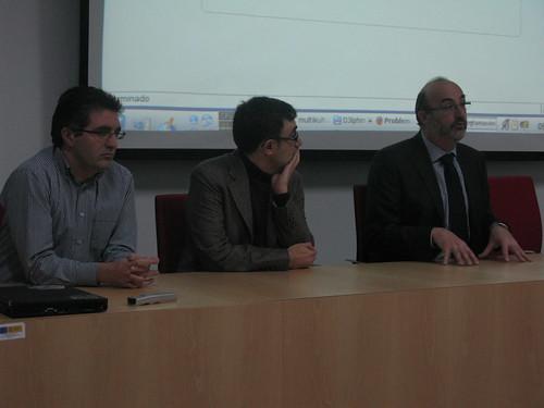 Alberto Labarga, JJ Merelo e Ignacio Molina