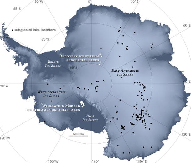 Antártida - Lagos bajo el hielo