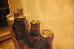 beer row (regina dementes) Tags: beer bottle fridge photoshoppery