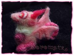 Pukis (borometz) Tags: pink color art wool monster toy dragon craft felt plush fantasy tiny needlefelting legend mythology myth handcraft    needlefelted        atelierborometz