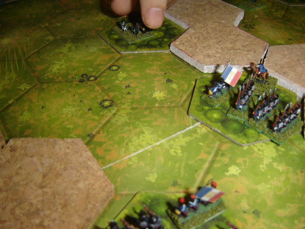English horse artillery forced back by French counter attack