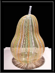 Giant Blown Glass Pear (mysweetiepiepie) Tags: art fruit museum giant large dramatic toledo huge blownglasspear