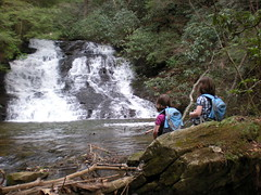 6 - Iz and Sophie at Canada Creek Falls (5th Cascade)