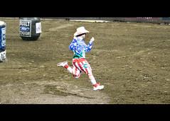 Flint (.emily.) Tags: jumping dancing clown arena dirt pbr entertainer professionalbullriders flintrasmussen