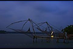 Chinese nets @30sec (www.senyphotography.com) Tags: india canon eos kerala usm 1785 cochin sen ernakulam cherai fishingnets chinesenets seny supershot 450d munambam pulimuttu