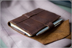 Zugster Leather Moleskine Cover (Adam A.) Tags: moleskine leather notebook handmade journal cover custom folio zugster notamessengerbag