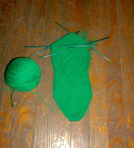 Absinthe Socks, Sock #1 Foot/Heel
