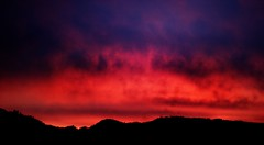 just a test (remography) Tags: photo foto color farbe sky himmel clouds wolken evening abend sunset sonnenuntergang nikon d70s sigma 180mm switzerland schweiz red rot black schwarz orange blue blau utata