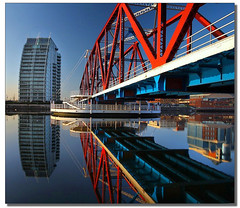 A Perspective.....! (i.rashid007) Tags: uk reflections manchester footbridge perspective salfordquays nv salford
