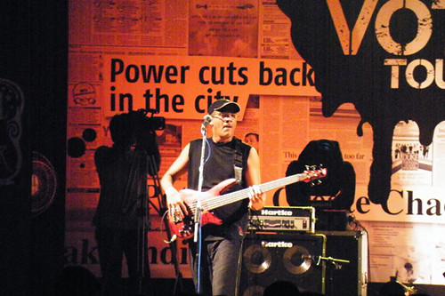 Rzhude on bass at IIT-Madras, Chennai