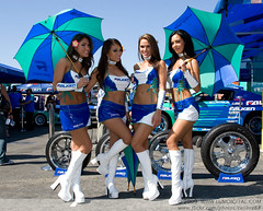 Falken Umbrella Girls (calibre68) Tags: girls umbrella boots tires falken drifting drift formulad cjgibson lisaangeline erimoriyama randyldawn 2008formuladrift lumdigital