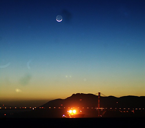 Golden Gate and Moon
