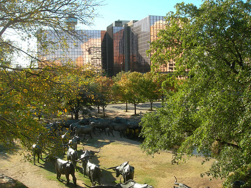 View from the Pioneer Plaza Cattle Drive