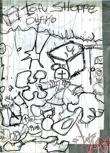 豆腐 : Tofu - Oyaku SHOPPE; foiled robbery  ..sketch  (( 2003 ))