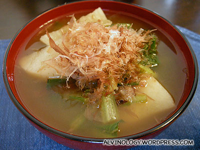 Nian Gao (rice cake) soup