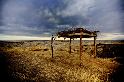 Plains Indian Burial Platform