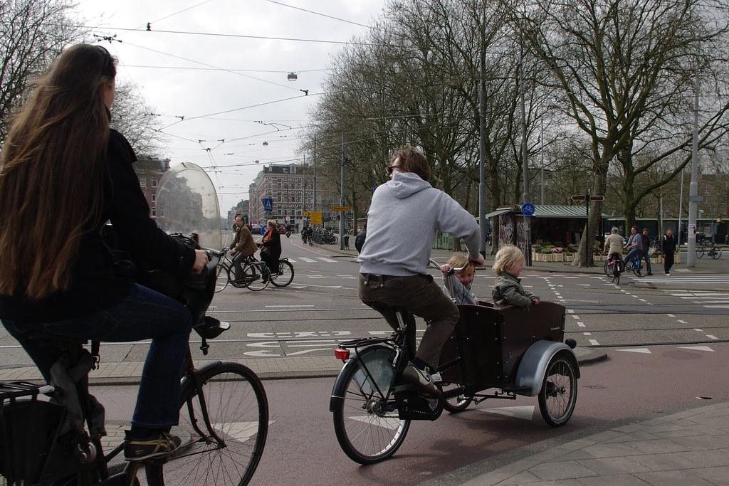 typical Amsterdam traffic