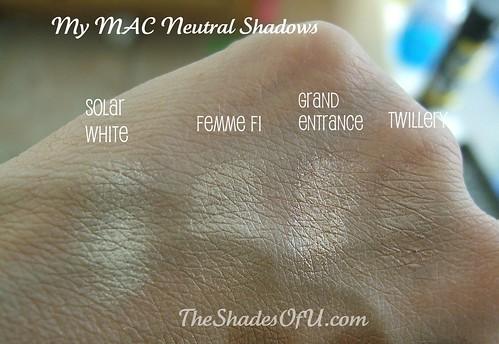 my mac neutral eye shadow swatches the shades of u