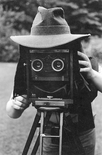 Smiling Stereo Face - Jack with Stereo View Camera - c. 1976