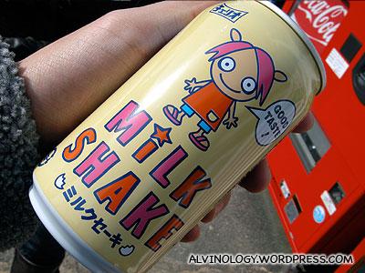 Nice milk shake from a 100 yen vending machine