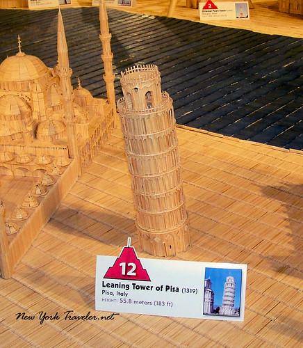 Pisa toothpick