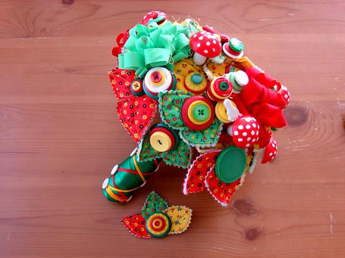 Whimsical Fairy Tale Mushroom Wedding Bouquet