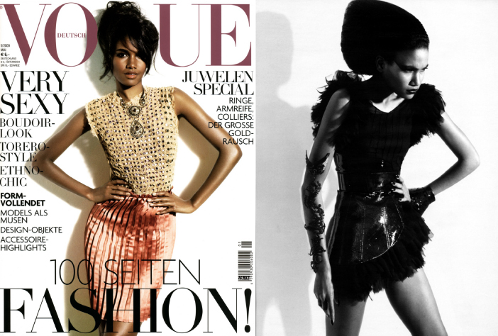 Arlenis Sosa Brings Black Back to Vogue Germany