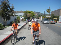 Leaving The Recycling Center (scottjlowe) Tags: county city history station bicycle la tour ride glendale group historical coalition society tropico