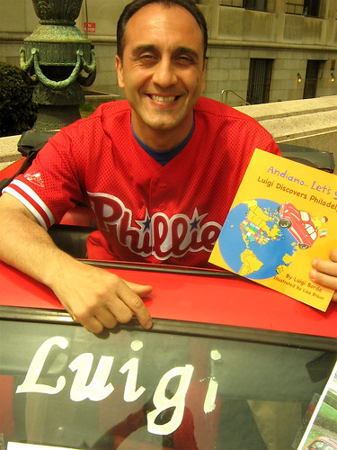 "The book is called ""Andiamo- Let's Go!"" and the series is called ""Luigi Gets Around dot com"" And the first book is called ""Luigi discovers Philadelphia"" I'm Luigi and this is the Philly ""Phiat"" and it's the true story of me coming over in my car from Cala"