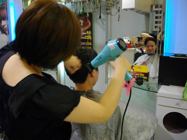 Hair cut & shampoo at Taiwan