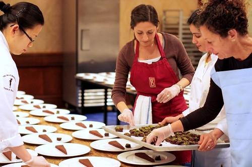 Nancy Silverton of Mozza plates desserts for Pebble Beach Food and Wine Festival